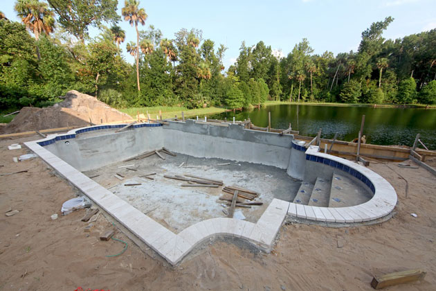 How much money does it cost to build a backyard swimming for Pool construction cost