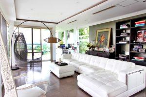 Ogie and Regine's living room (Photo via Real Living)