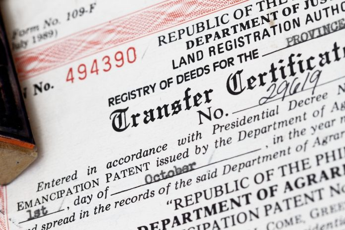 Land title registration