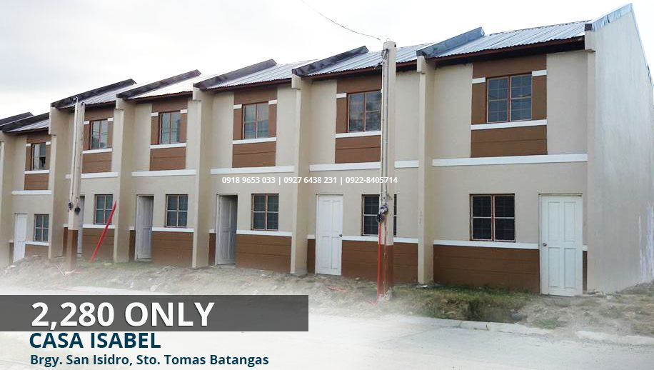 Affordable 2 storey Townhouse in Batangas 2,200/monthly