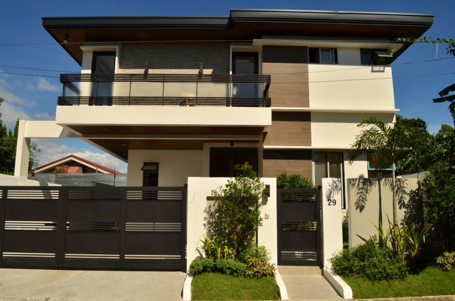Corner Elegant House Five Bedrooms Modern Design House and Lot in BF on philippines house design, house and pool design, cebu house design, fiesta house community design, simple two-storey house design, house and roof design,