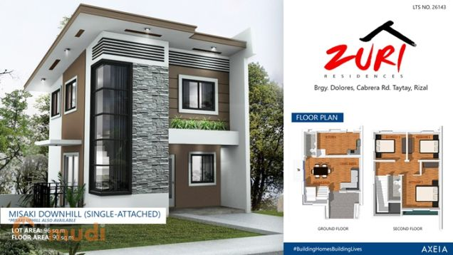 Single family house for sale in zuri residences misaki for 8 salon taytay rizal